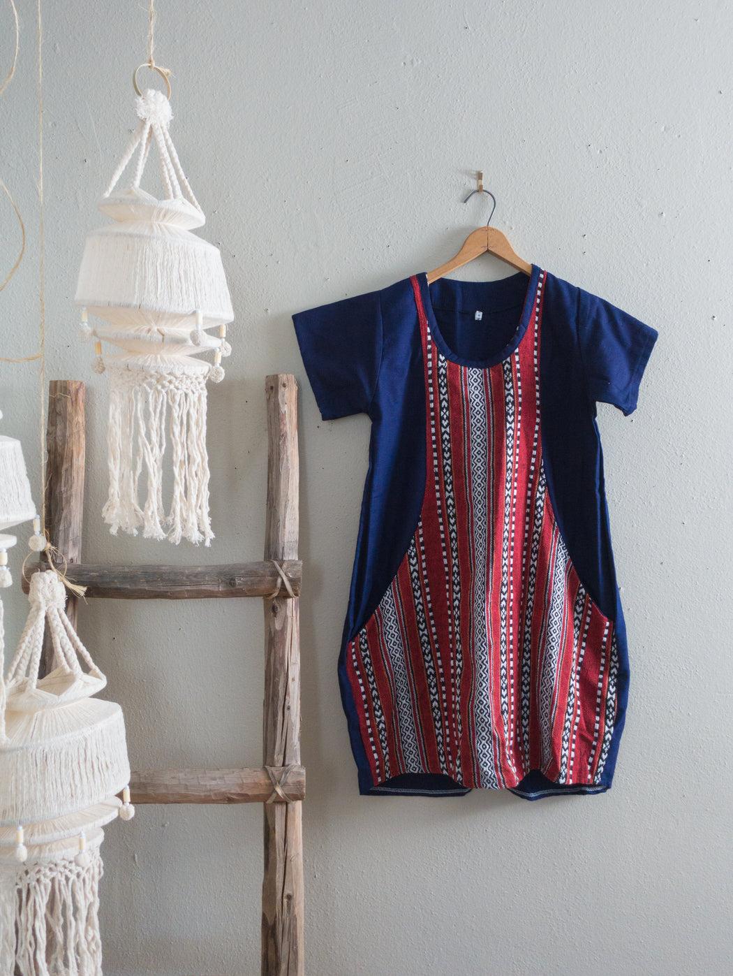 Vintage Thai Fabric Pocket Dress