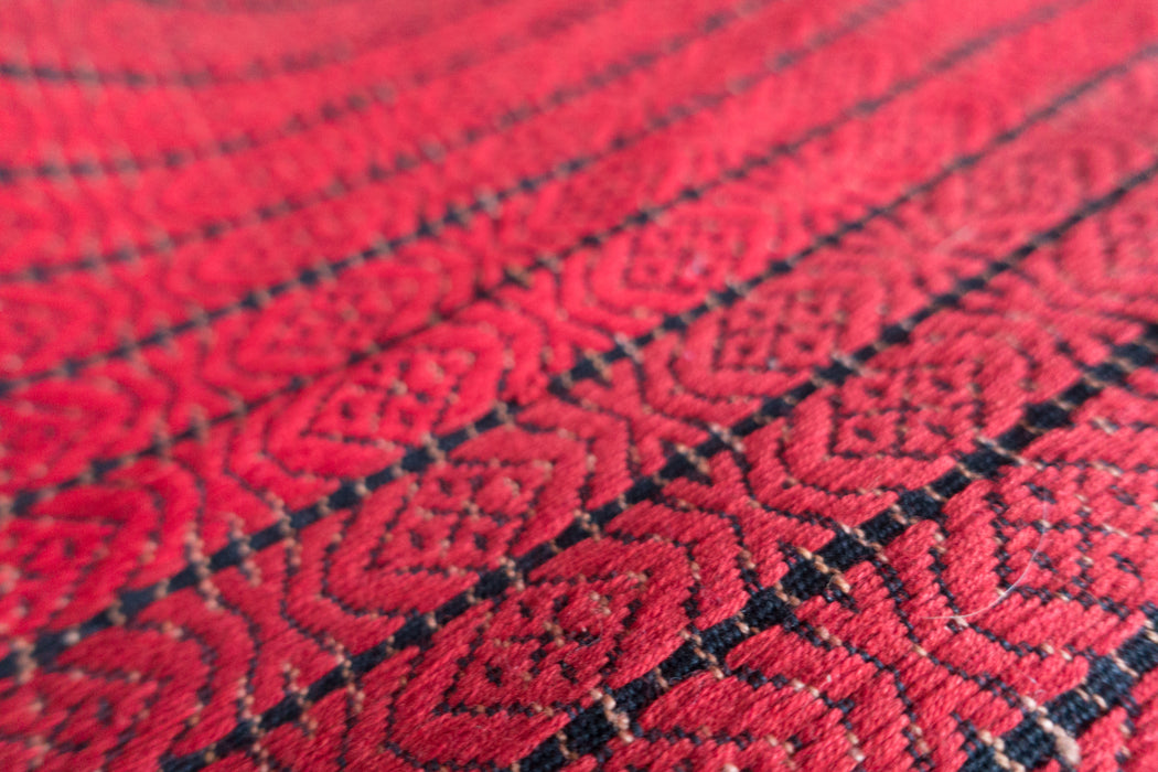 Vintage Thai Hill Tribe Red Table Runner
