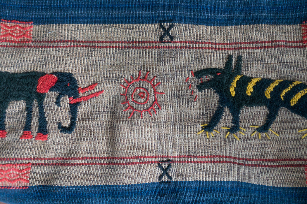 Vintage Embroidered Thai Hill Tribe Shawl