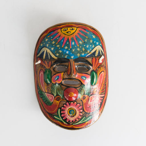 Vintage Mexican Painted Clay Mask