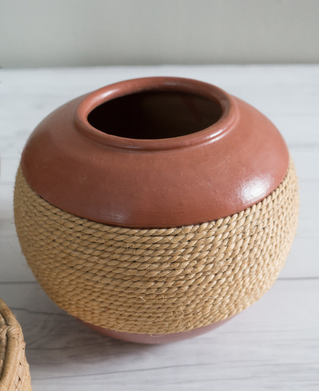 Vintage Brazilian Rope Wrapped Vase