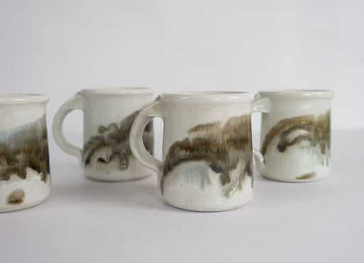 Set of 4 Studio Pottery Mugs