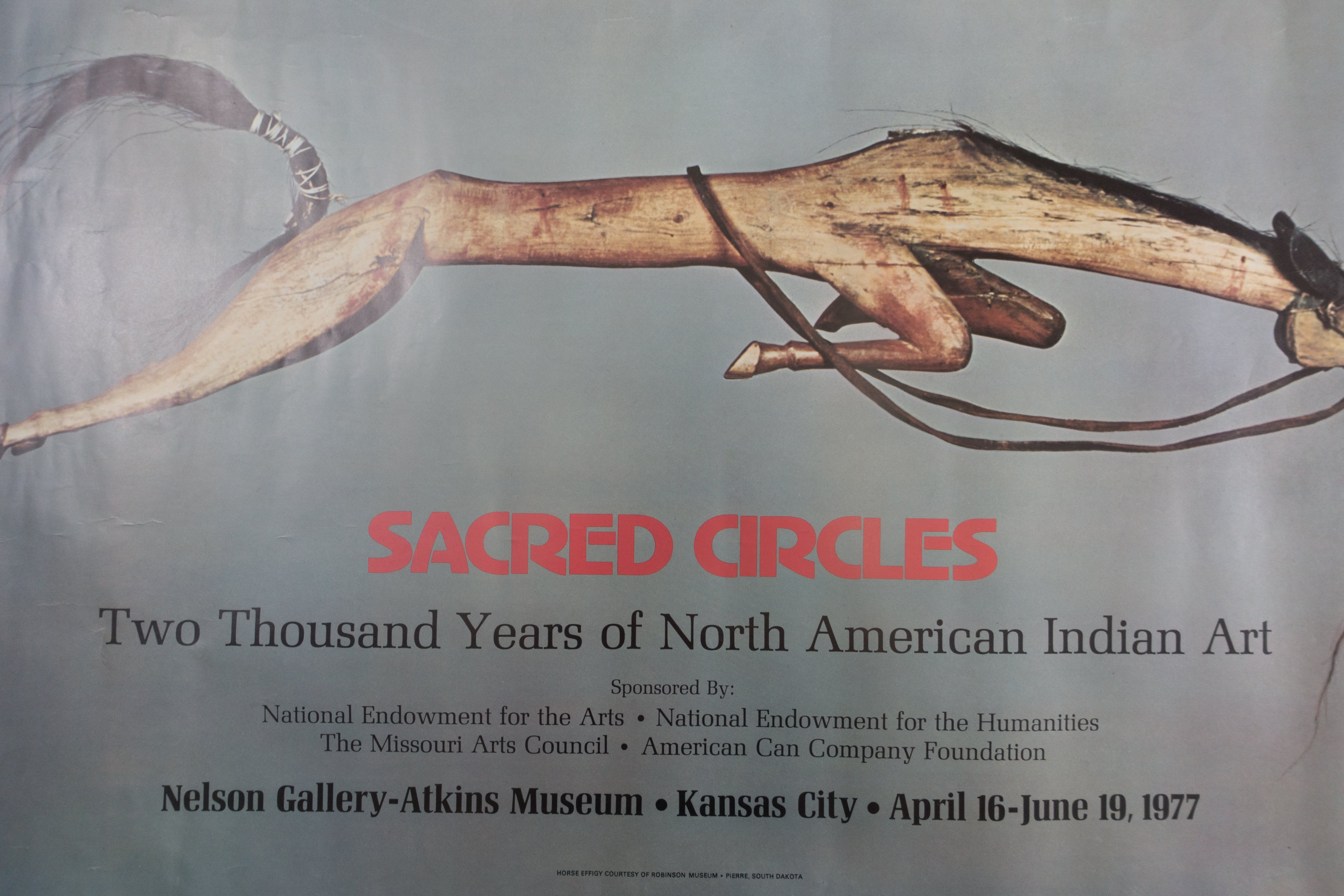 1977 Sacred Circles Exhibit Poster | Two Thousand Years of North American Indian Art Kansas City