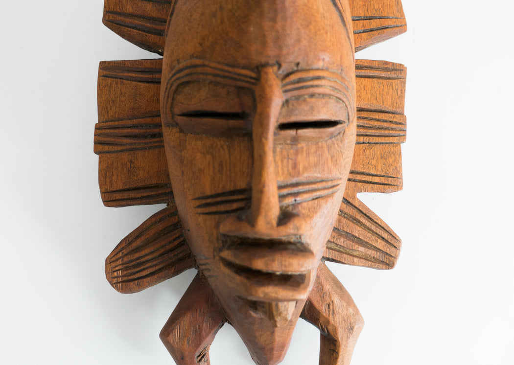 Vintage African Face Mask Wall Decor