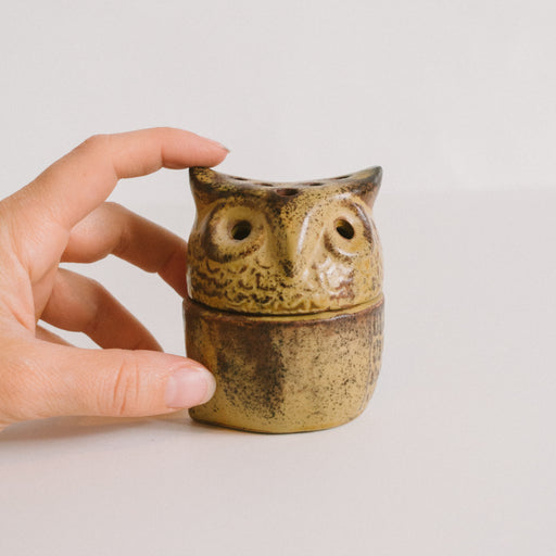 Vintage Ceramic Owl Incense Burner