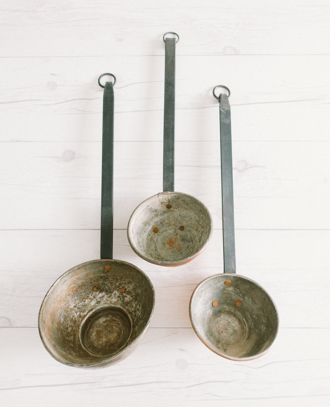 French Provincial Kitchen | Vintage Copper Ladle Spoons