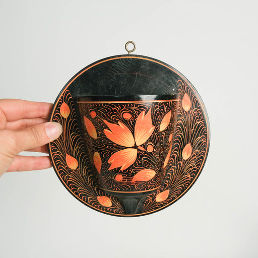 Vintage Wooden Wall Planter Pocket