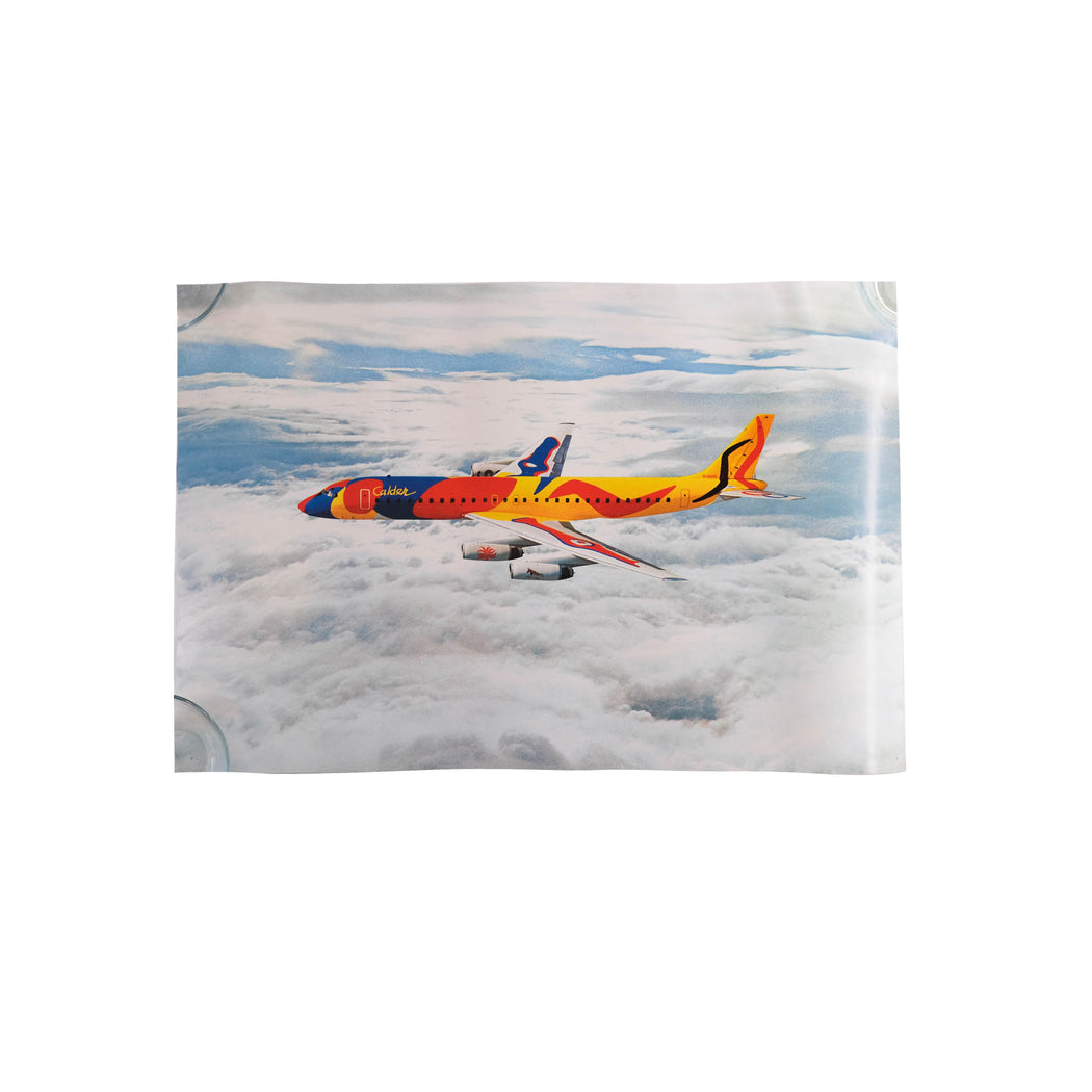 Vintage Calder Plane Travel Poster Original Braniff International Airways