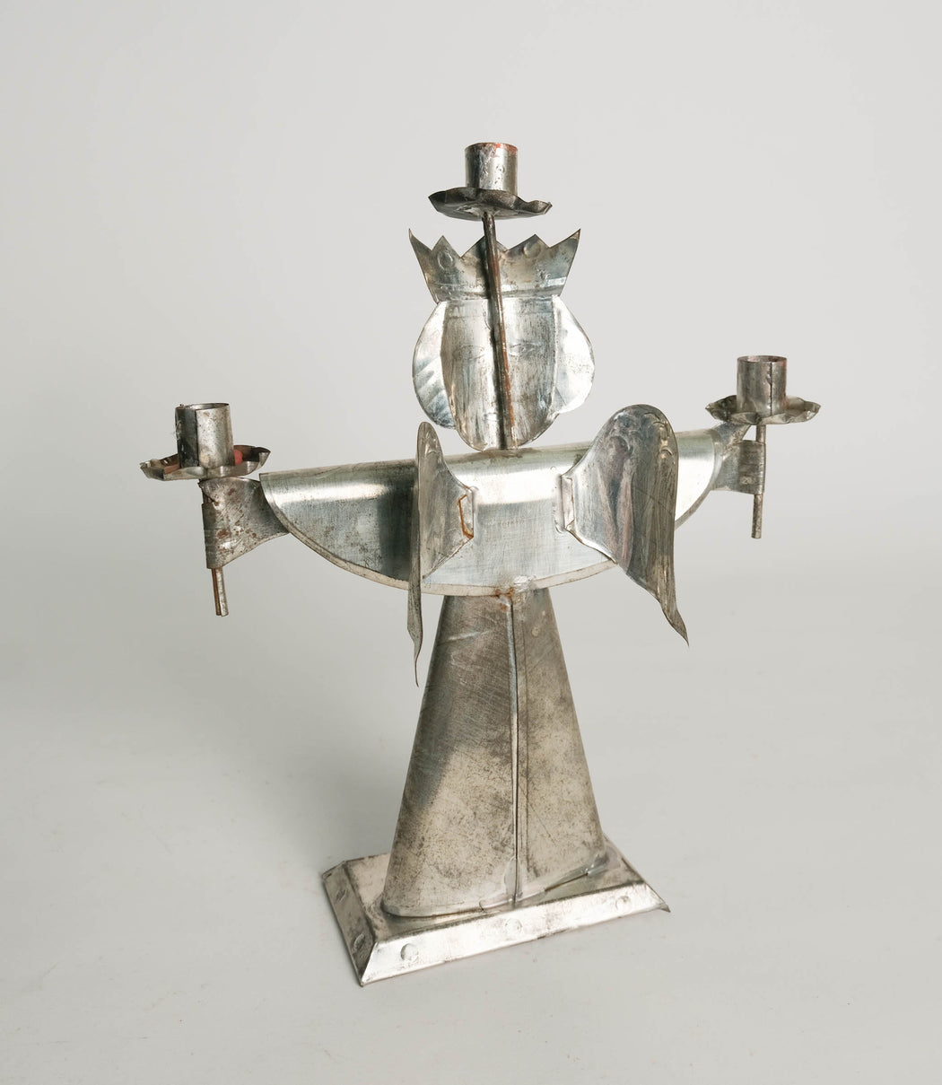 Vintage Mexican Tin Angel Candle Holder
