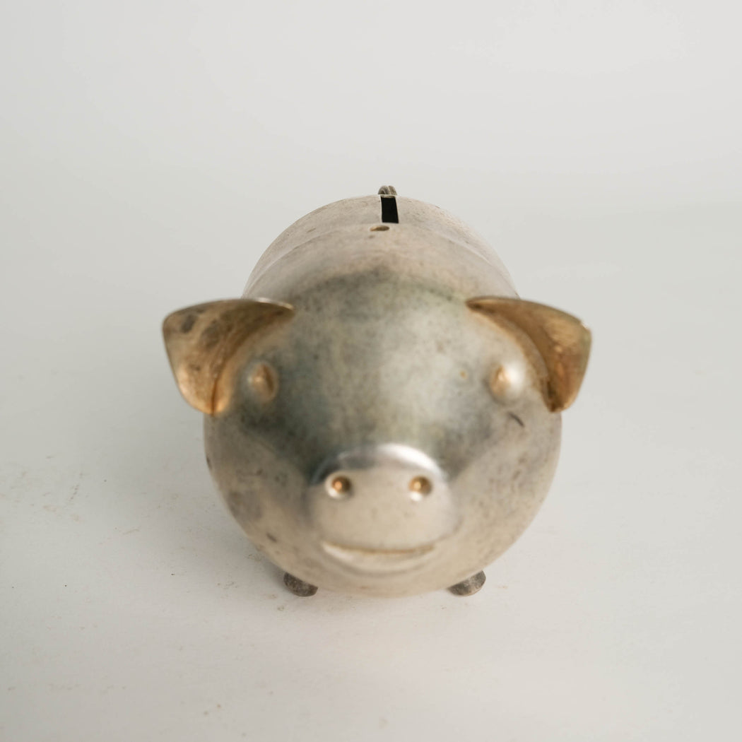 Vintage Stainless Piggy Bank