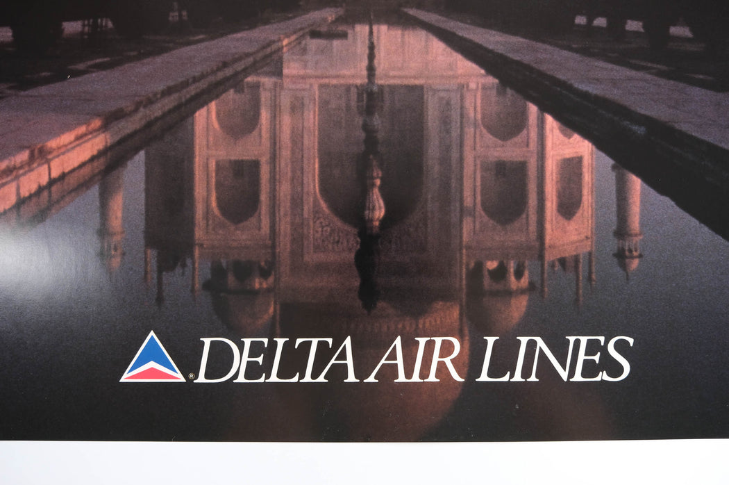 Vintage India Travel Poster Original Delta Airlines