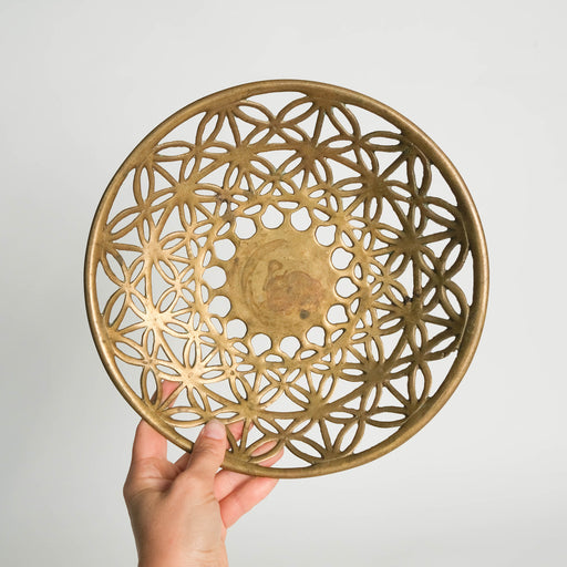 Vintage Cutout Brass Bowl