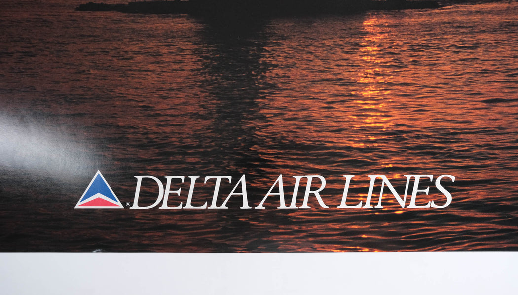 Vintage Turkey Travel Poster Original Delta Airlines