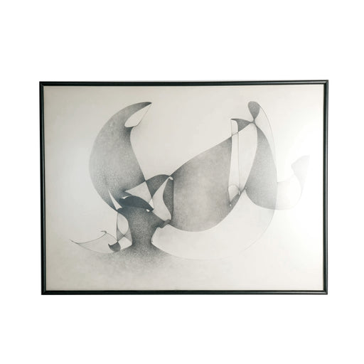 Vintage Abstract Graphite Drawing