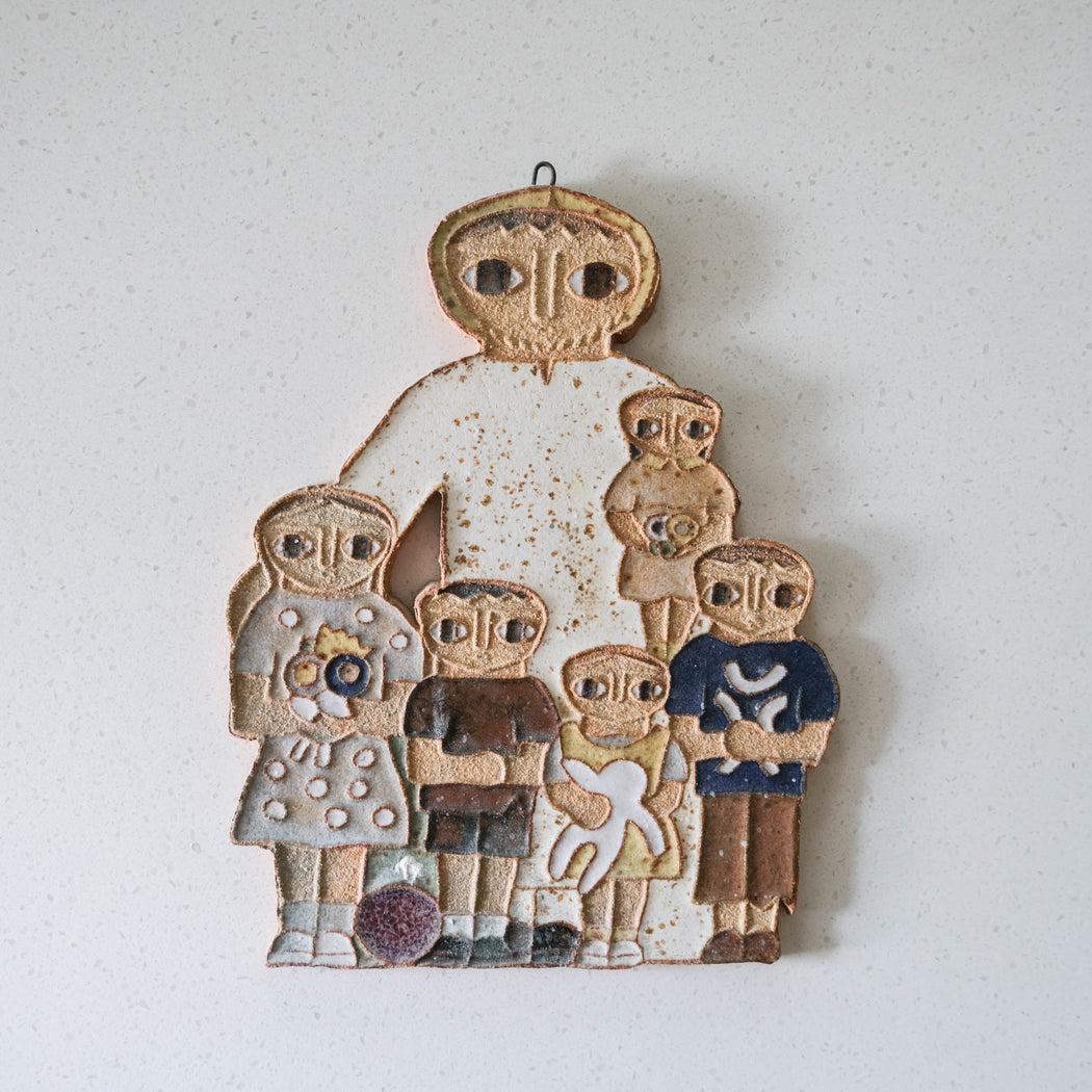 Vintage St Andrews Abbey Wall Plaque Jesus with Children