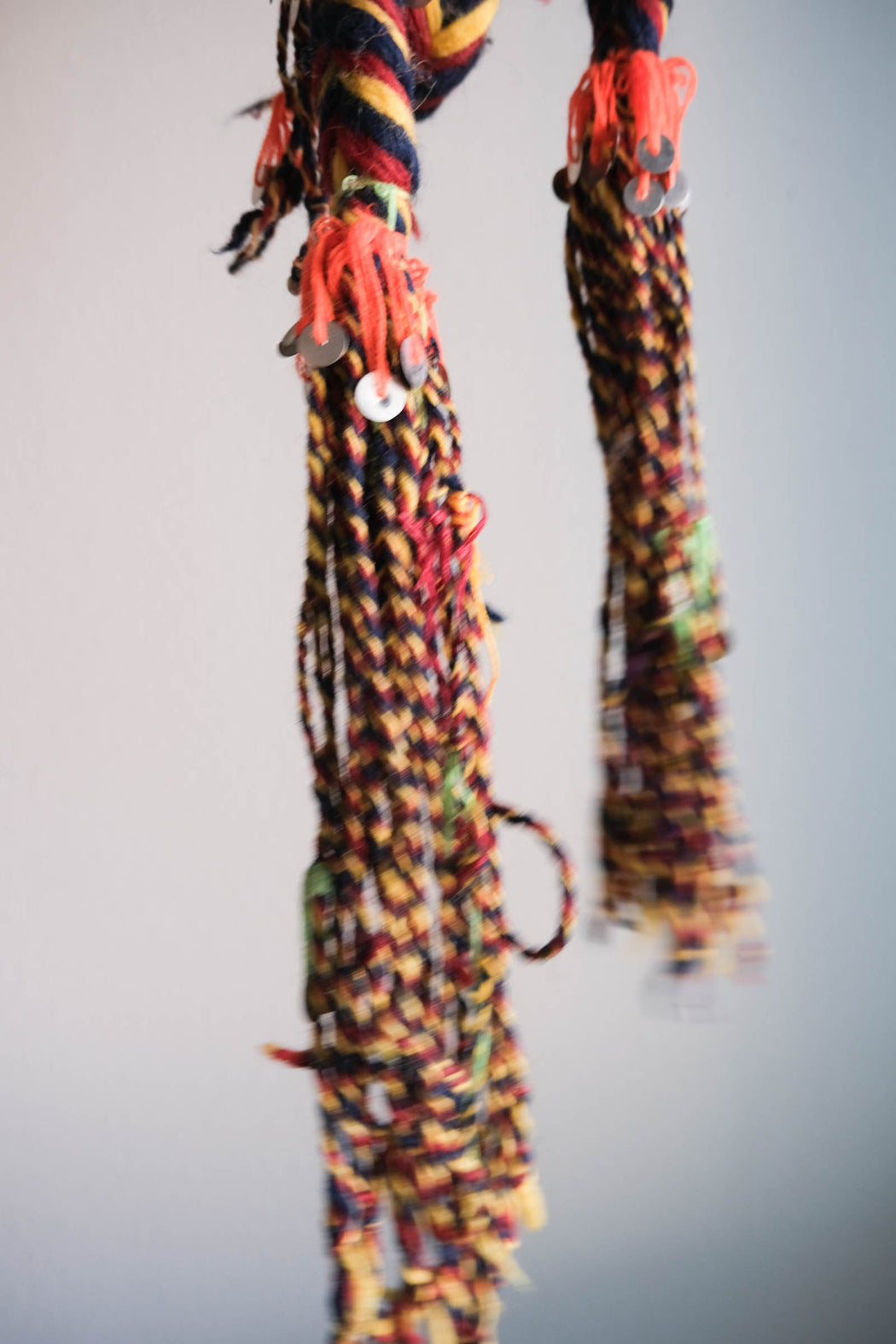 Vintage 8 Foot Braided Tassel with Sequins
