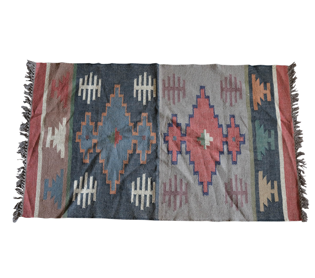 3x5 Vintage Turkish Kilim Rug