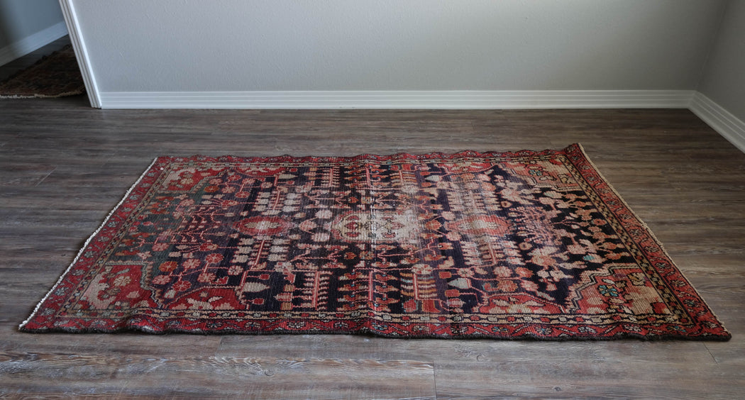 3.5x6 Vintage Persian Lilihan Malayer Rug