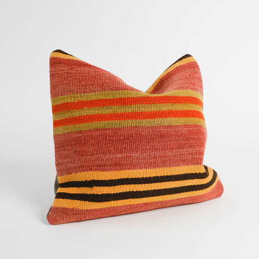 Vintage Turkish Kilim Pillow | Colorful Accent Sofa Pillow