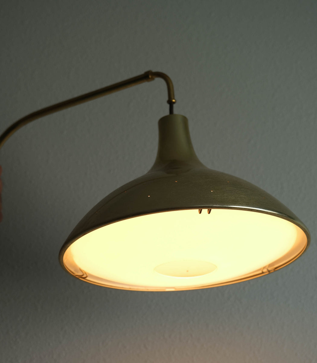 Mid Century Modern Pull Down Lamp | Vintage Wall Mounted Pendant Light Fixture