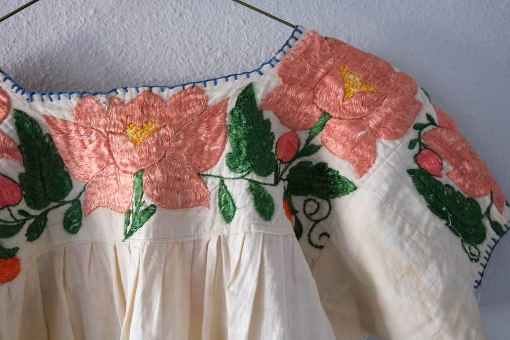 Antique Mexican Embroidered Blouse