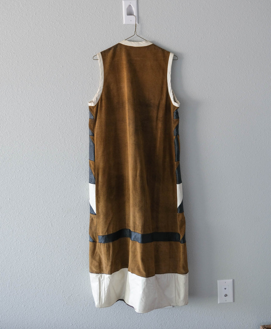 Vintage Heavy Turkish Geometric Tunic Vest Jacket