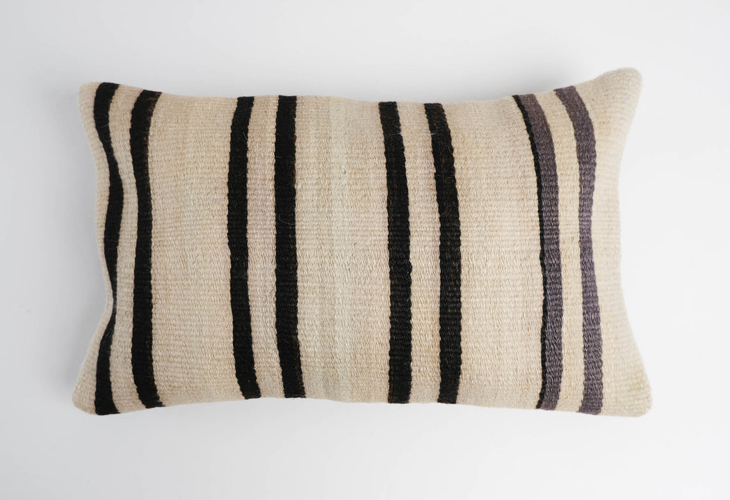 Vintage Turkish Kilim Lumbar Pillow | Colorful Accent Sofa Pillow