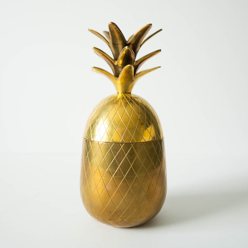 Vintage Brass Pineapple Jar Container