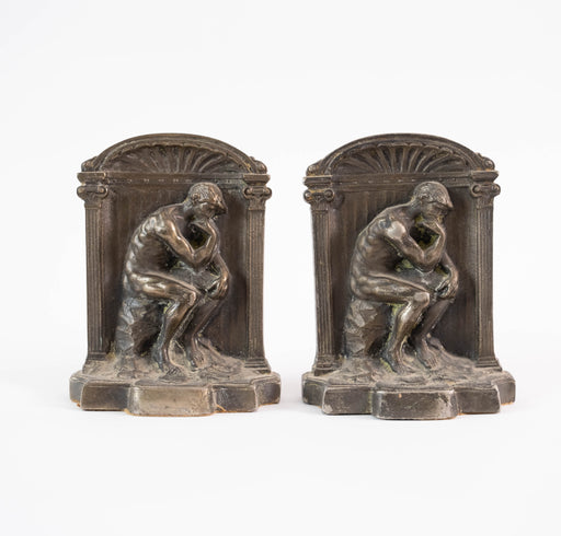 The Thinker Bronze Bookends