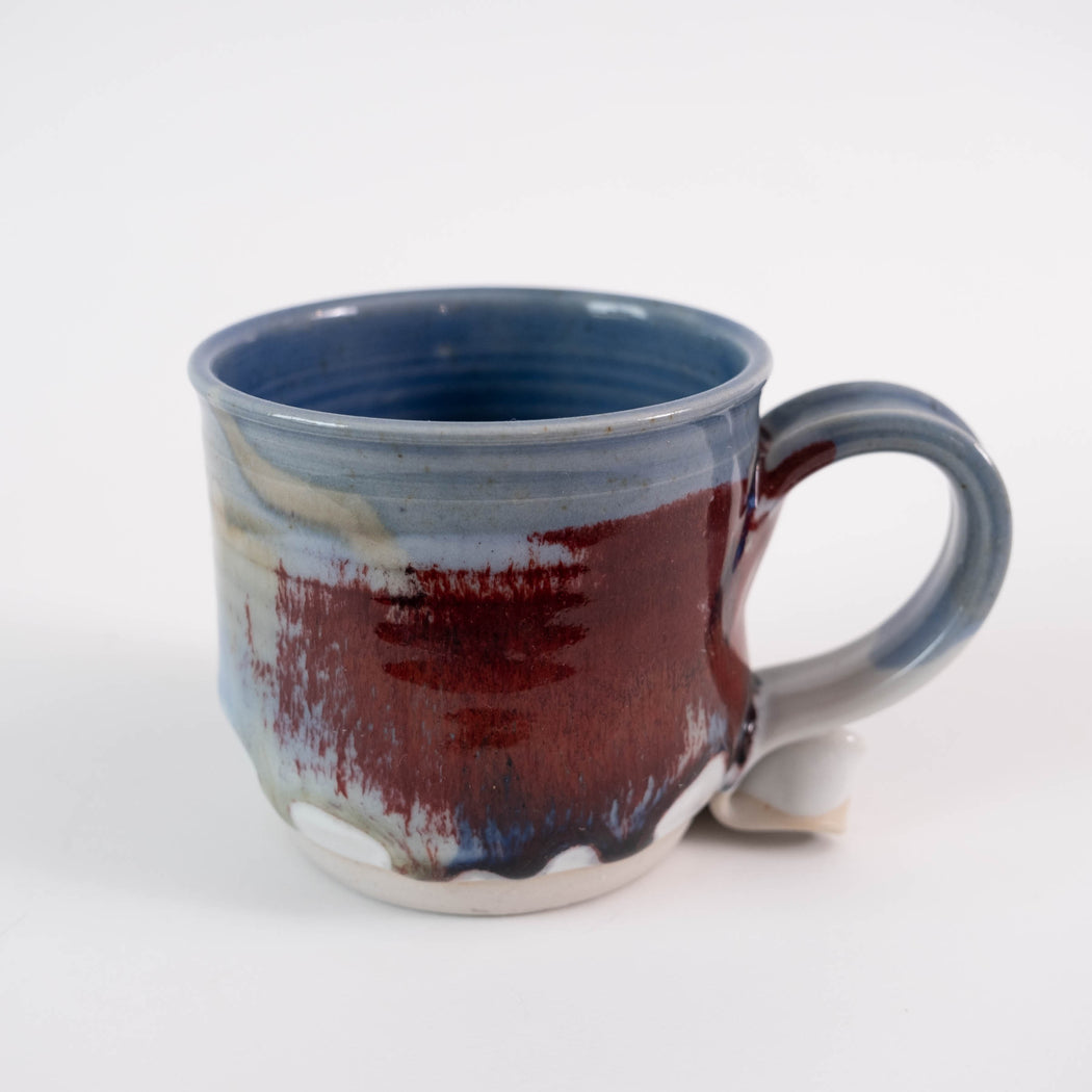 Vintage Blue Studio Pottery Mug | Handmade Coffee Mug