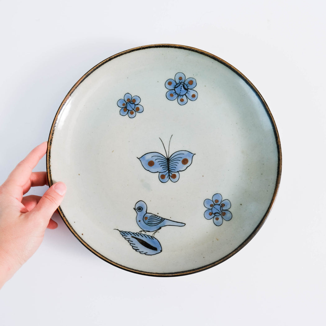 El Palomar Blue Bird Dinner Plate | Ken Edwards Tonala Pottery