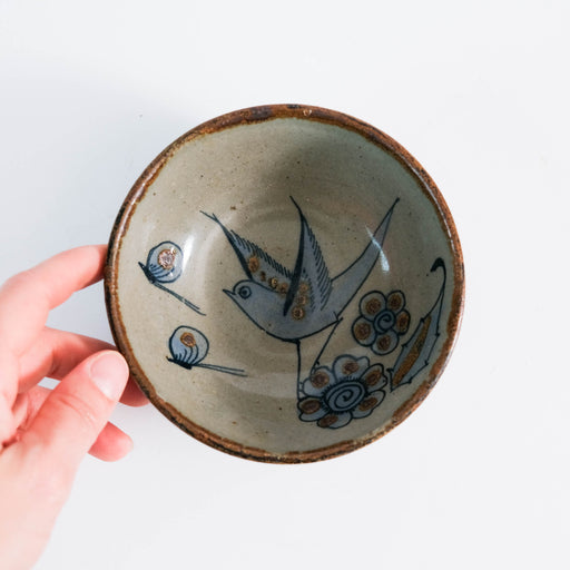 El Palomar Blue Bird Dessert Bowl | Ken Edwards Tonala Pottery