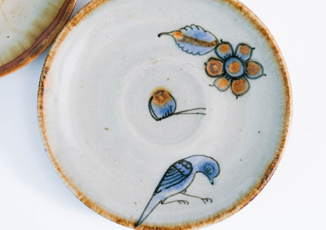 El Palomar Blue Bird Saucers | Ken Edwards Tonala Pottery