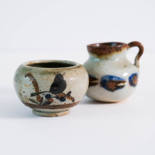Pair of Mini Stoneware Tonala Pots