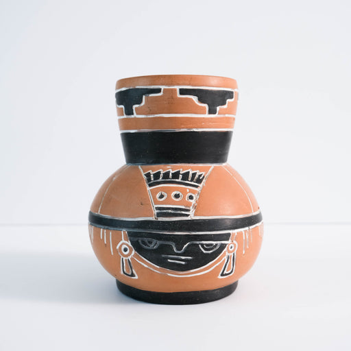 Vintage Aztec Style Vase | Mexican Pottery