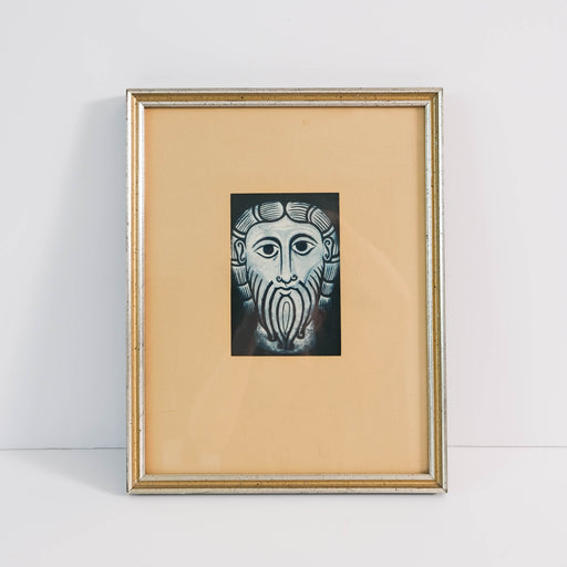 Vintage Medieval Head of Christ Framed Print