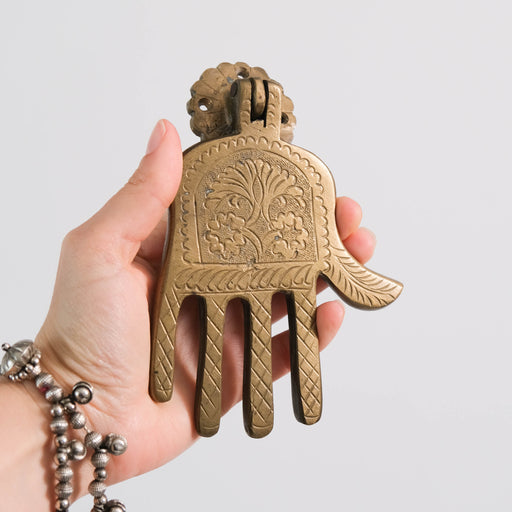 Vintage Hamsa Door Knocker | Moroccan Brass Hand of Fatima