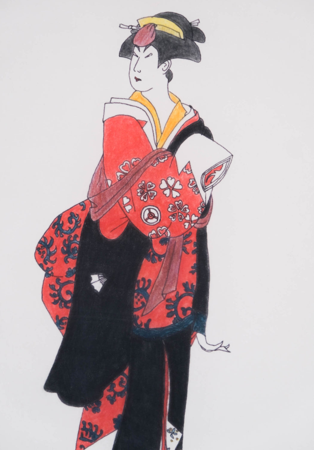 Vintage Geisha Art by Mary Liz Deppen