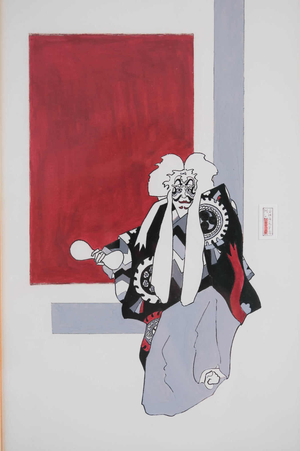 Vintage Kabuki Art by ML Sharpe 1985