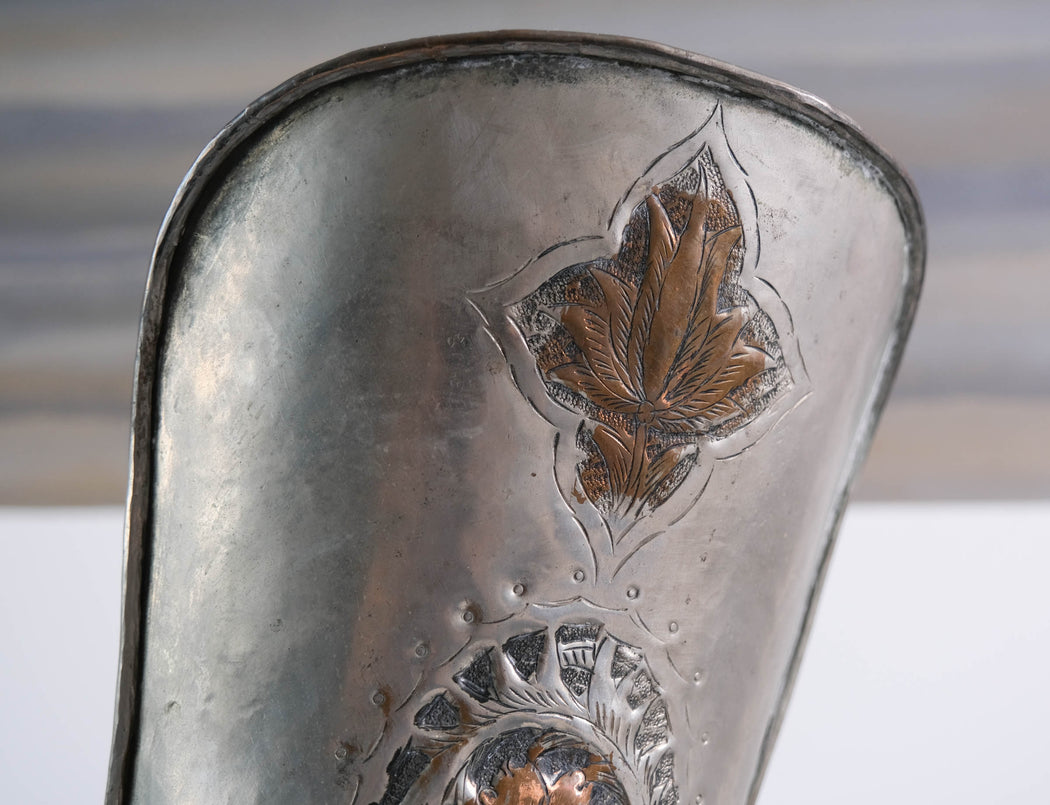 "Vintage 28"" Persian Silver Embossed Pitcher"