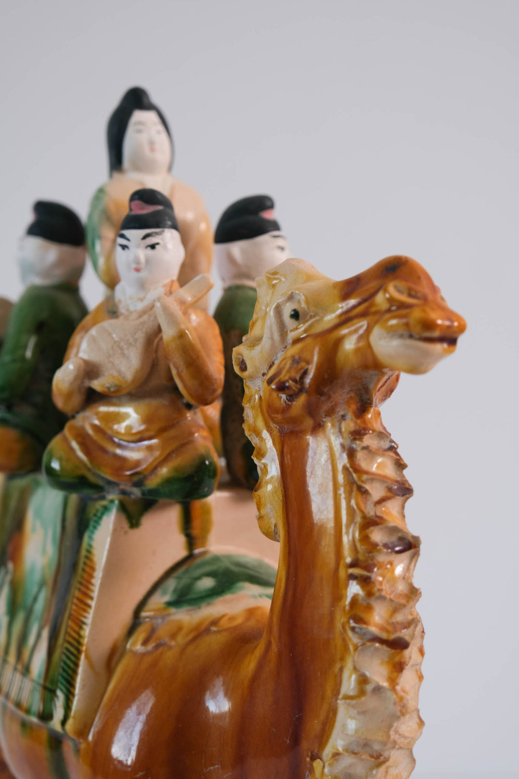 Vintage Ceramic Sancai Camel with Musicians | Chinese Tang Style