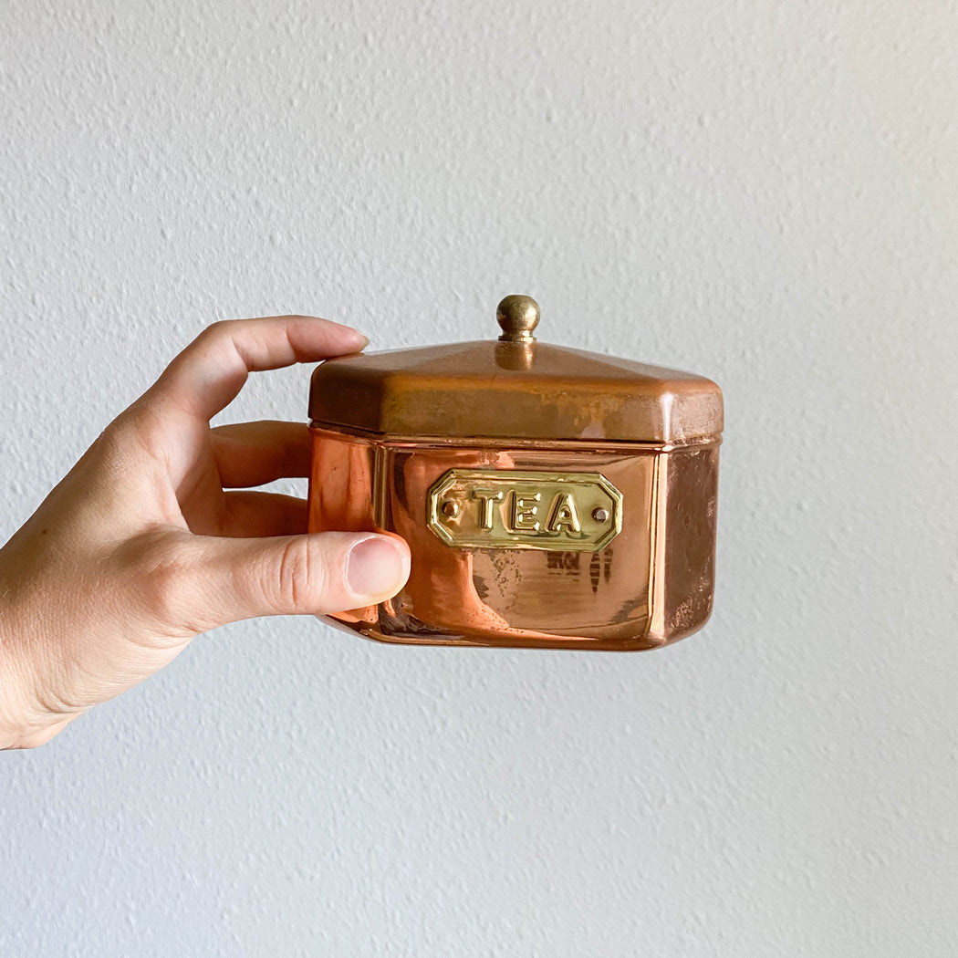 Vintage Copper Tea Canister
