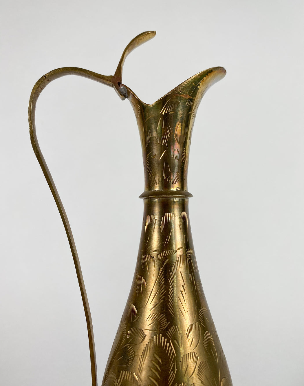 Vintage Indian Brass Pitcher Vase