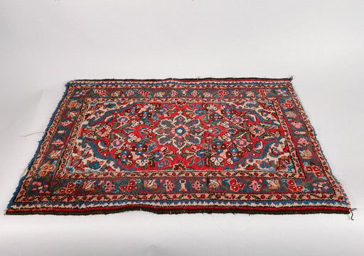 Small Vintage Rug | 2x3 Hand Knotted Wool Carpet