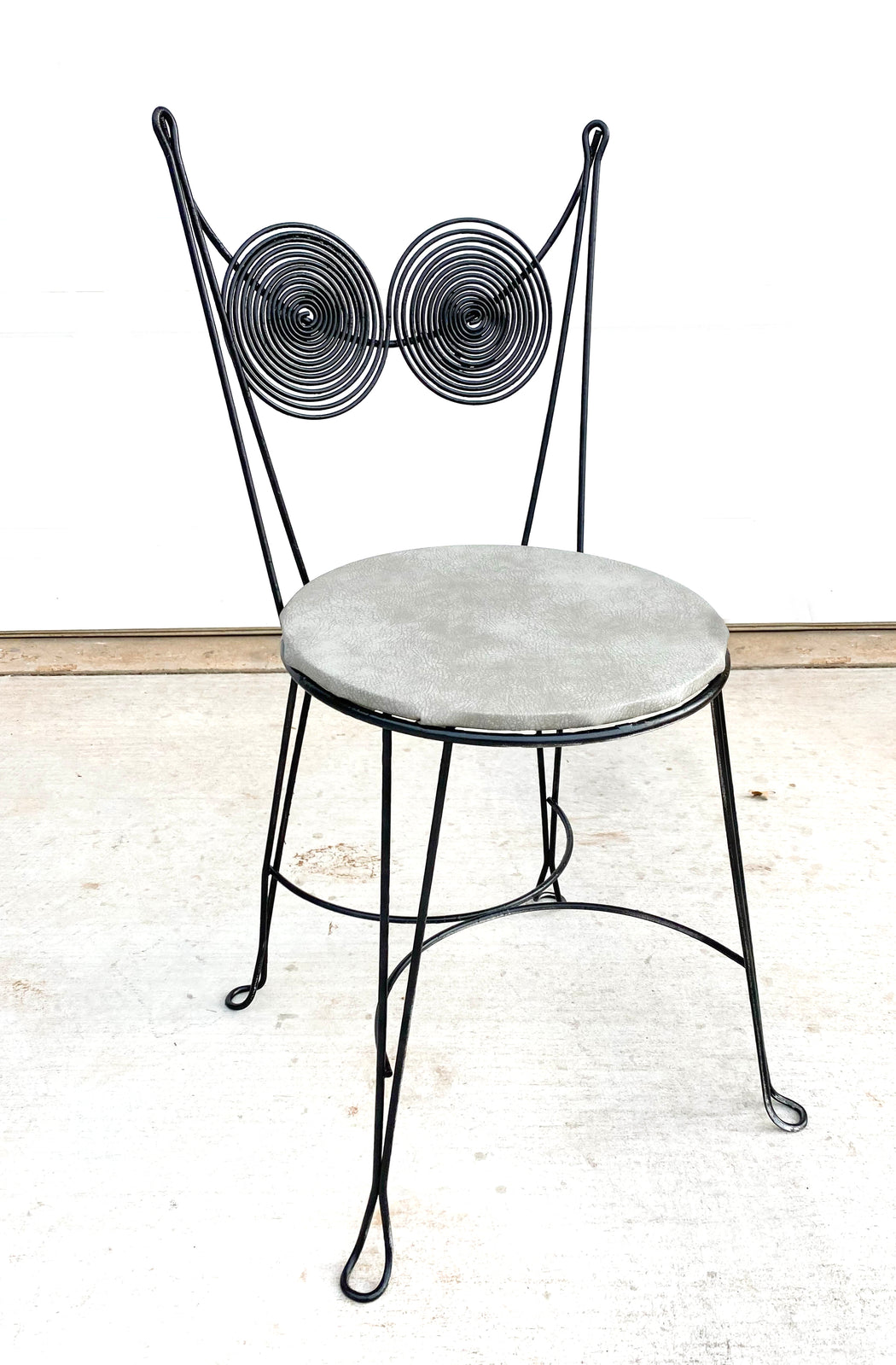 Mid Century Tony Paul Black Spiral Cafe Chairs | Set of Three