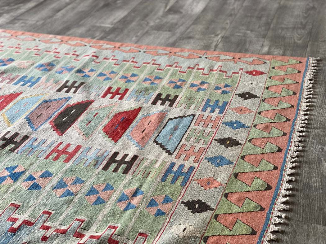 "3' 5.5"" x 5' 4"" Vintage Turkish Kilim Rug"
