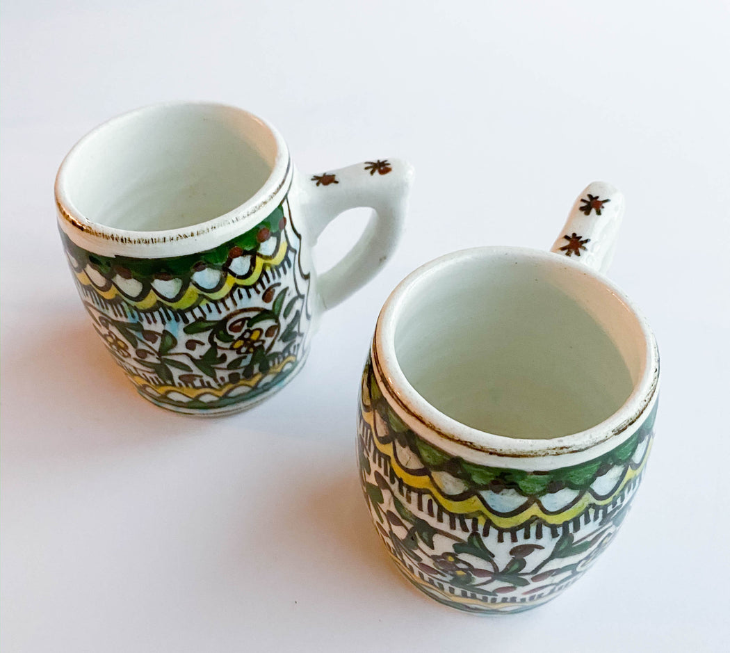 Set of 2 Pottery Mugs