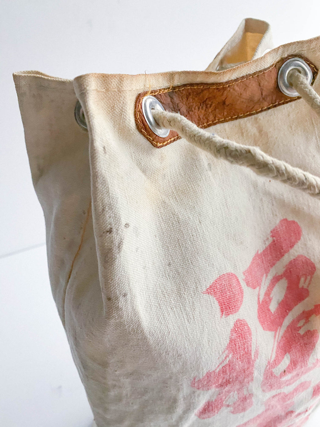 Vintage Japanese Lunch Tote - White