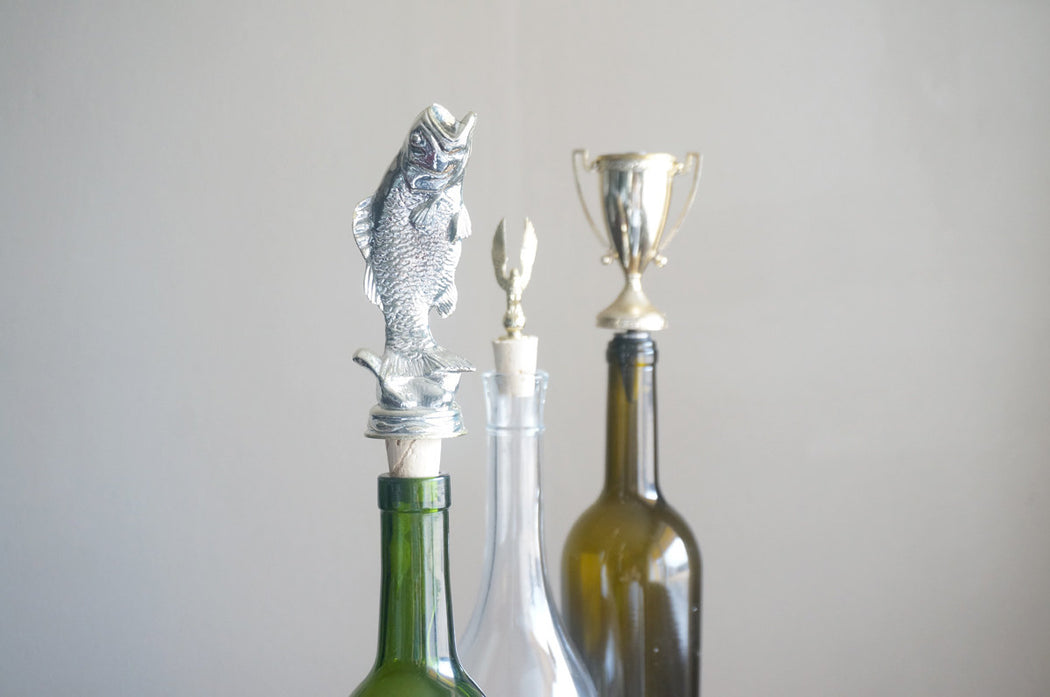 Largemouth Bass - Vintage Trophy Cork Wine Bottle Stopper