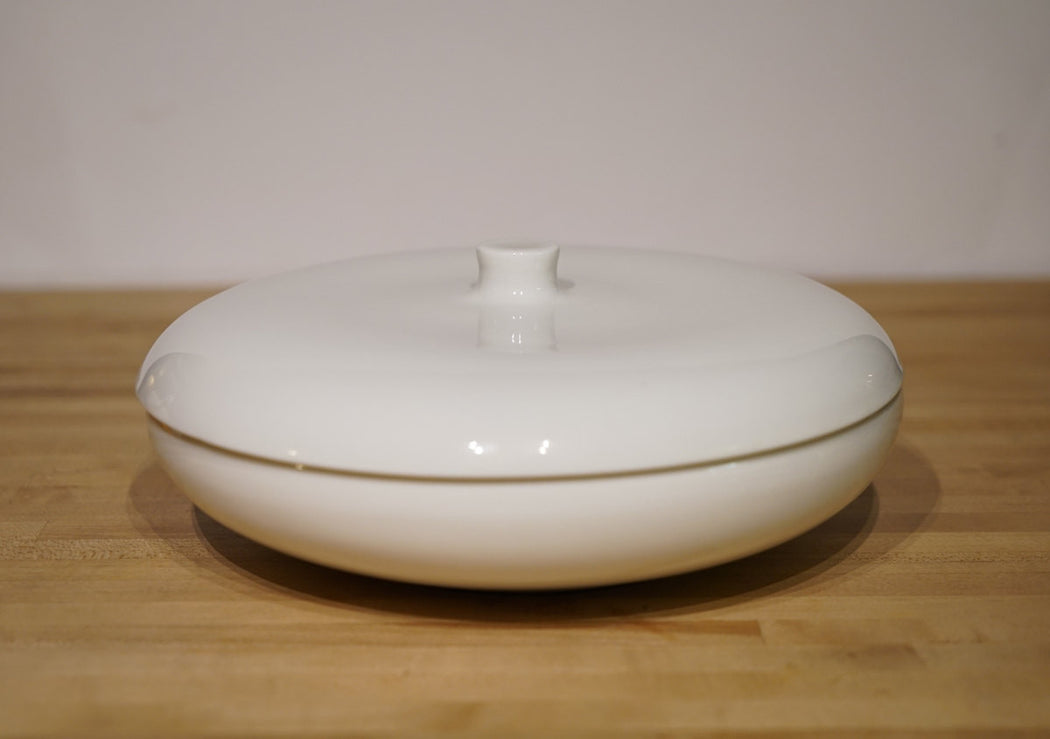 Vintage Iroquois Casual China Divided Casserole Serving Bowl by Russel Wright